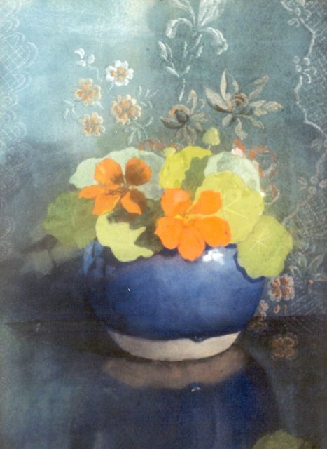 Jan Voerman sr. | Nasturtium, watercolour on paper, 37.0 x 27.0 cm, signed with initials l.r. and painted between 1889-1904