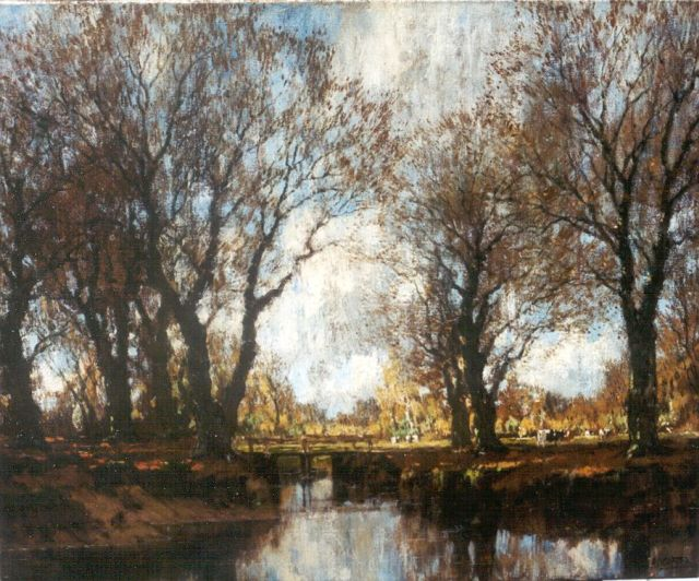 Arnold Marc Gorter | The Vordense Beek in autumn, oil on canvas, 46.3 x 56.2 cm, signed l.r.