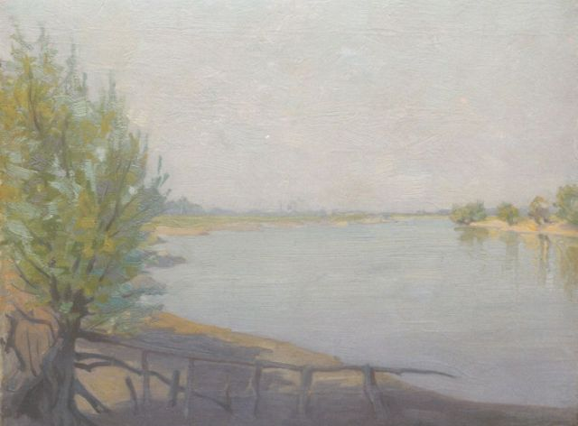 Co Breman | A view of the river IJssel by Deventer, oil on canvas, 30.2 x 38.5 cm