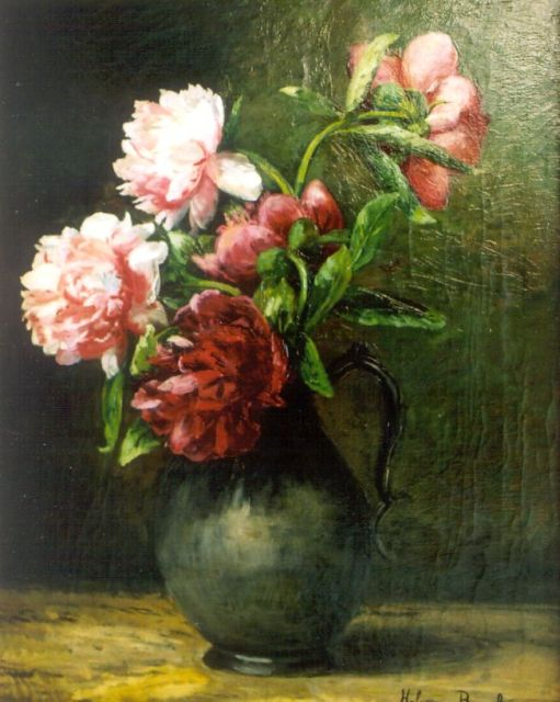 Helena Maria van Borselen | A flower still life, oil on canvas, 40.0 x 60.0 cm, signed l.r.