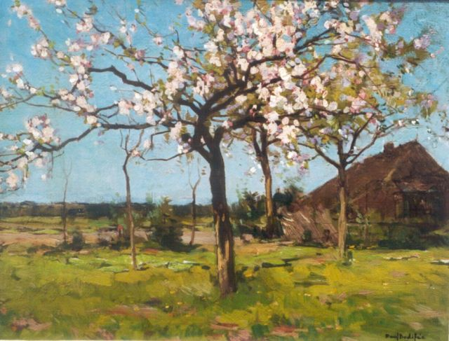 Paul Bodifée | Blossoming trees in spring, oil on canvas, 32.1 x 42.1 cm, signed l.r.