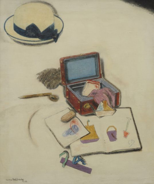René Choprix | The first drawing lesson, oil on canvas, 70.1 x 60.2 cm, signed l.l. and dated 5-28