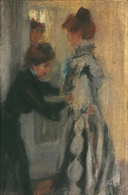 Israels I.L.  | With the seamstress, Hirsch, pastel on paper, 55.0 x 37.0 cm, signed l.r. and painted in 1903