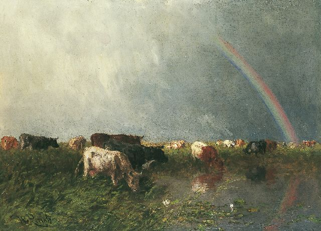 Roelofs W.  | A rainbow, oil on canvas, 69.0 x 94.2 cm, signed l.l.