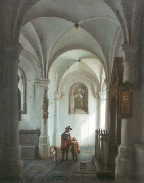 George Gillis Haanen | A Church Interior, oil on panel, 49.6 x 39.6 cm, signed l.l. and dated '1833 Ut.t.'