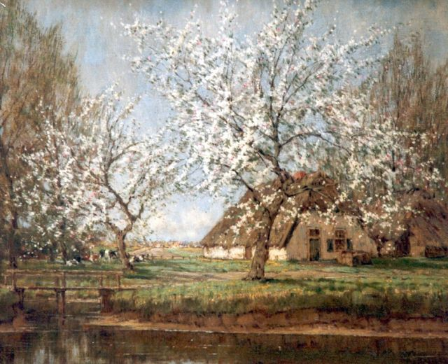 Arnold Marc Gorter | Blossoming trees, oil on canvas, 56.3 x 76.3 cm, signed l.r.