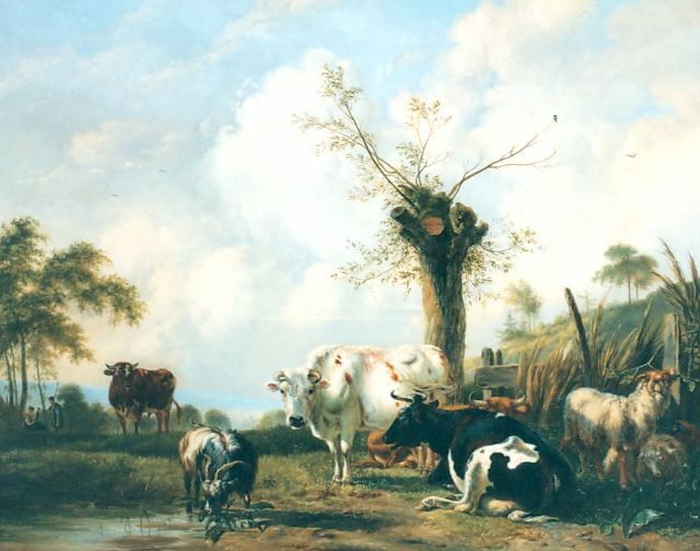 Pieter Gerardus van Os | Cattle in a landscape, oil on panel, 84.5 x 105.8 cm, signed l.l. and dated 1837