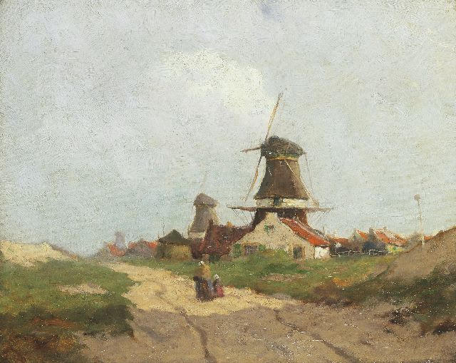Walter Castle Keith | The windmills of Leidschendam, oil on canvas, 40.6 x 50.8 cm, signed l.r.