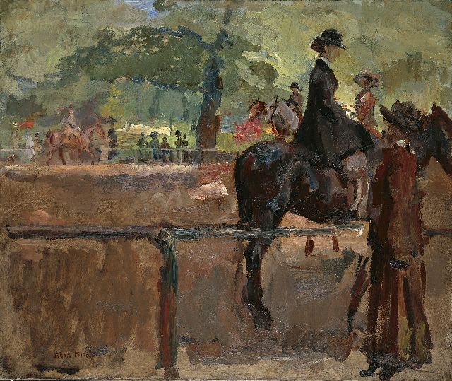 Israels I.L.  | A horsewoman, Hyde park London, oil on canvas, 63.8 x 76.2 cm, signed l.l. and painted between 1913-1914