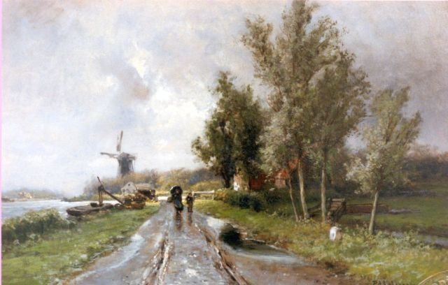 Piet Schipperus | Showery weather, oil on panel, 48.0 x 70.0 cm, signed l.r.