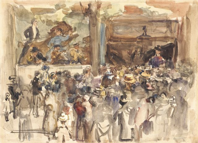 Israels I.L.  | At the fair, watercolour on paper, 44.5 x 61.0 cm, signed l.r. with studiostamp