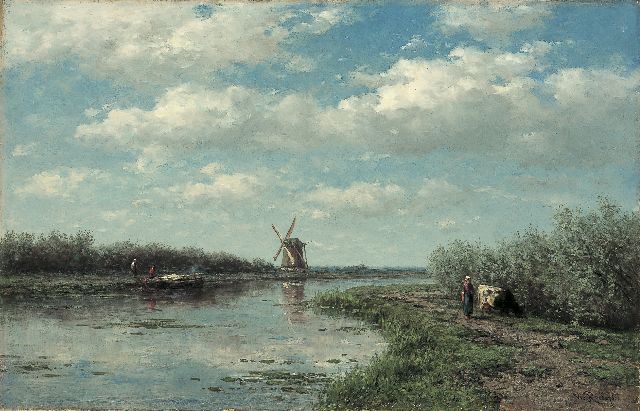 Roelofs W.  | The 't Hoog- en Groenland mill, Baambrugge, oil on canvas, 46.5 x 72.8 cm, signed l.r.
