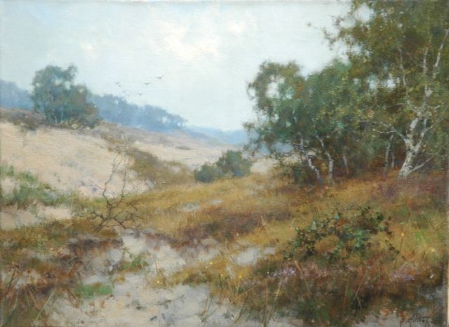 Jan Holtrup | A view of the 'Mosselse Zand', oil on canvas, 30.1 x 40.3 cm, signed l.r.