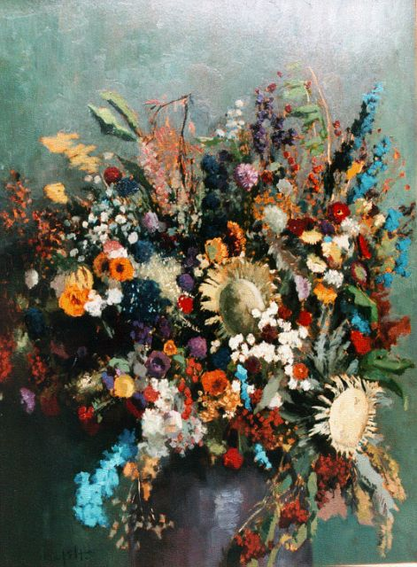Gottfried van Pelt | A bunch of wildflowers, oil on panel, 119.2 x 89.5 cm, signed l.l.