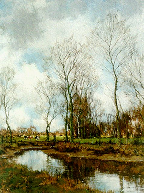 Arnold Marc Gorter | The Vordense beek, oil on canvas, 42.4 x 32.1 cm, signed l.r. and painted circa 1928