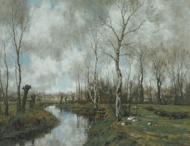 Arnold Marc Gorter | Autumn landscape, the Vordense beek, oil on canvas, 62.0 x 79.0 cm, signed l.r. and dated 1925