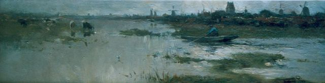 Willem Rip | Early morning, oil on canvas, 20.9 x 70.3 cm, signed l.r.