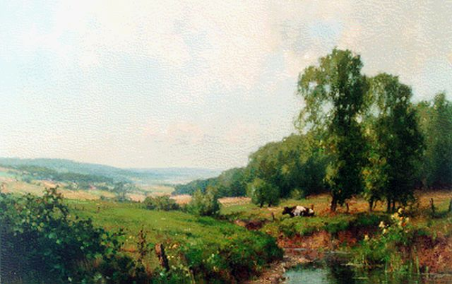 Jan Holtrup | 'De Geul', South Limburg, oil on canvas, 40.0 x 60.0 cm, signed l.r.