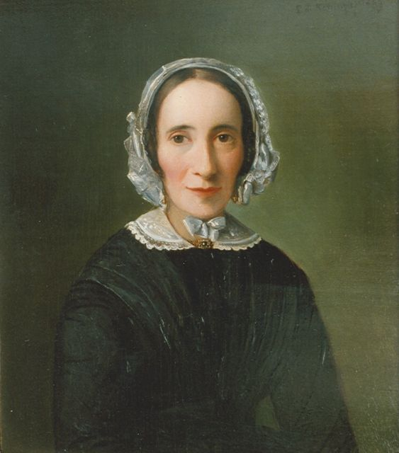 Leonard de Koningh | Portrait of Mrs. de Vries, oil on panel, 27.5 x 24.5 cm, signed u.r. and dated 1849