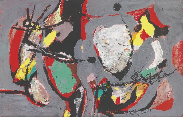 Willy Boers | Untitled, gouache on paper, 32.0 x 50.5 cm, signed l.r. and dated '55