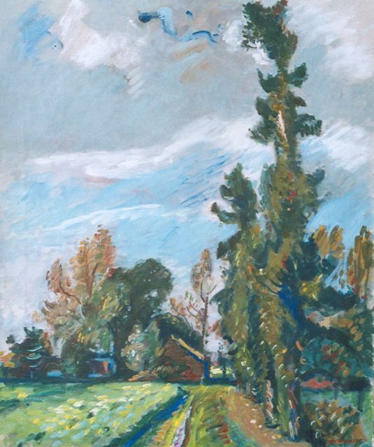 Wiegers J.  | The Veluwe, oil on canvas, 61.4 x 50.5 cm, signed l.r. and painted '41