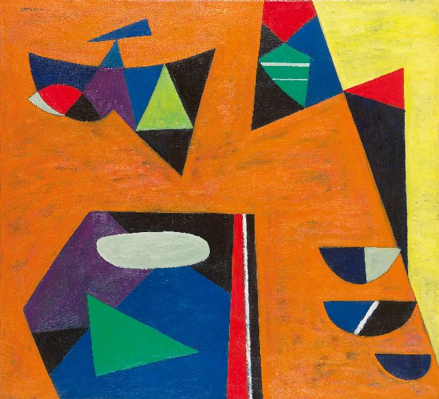 Ittmann H.  | An abstract composition, oil on canvas 90.0 x 100.0 cm, signed u.l.