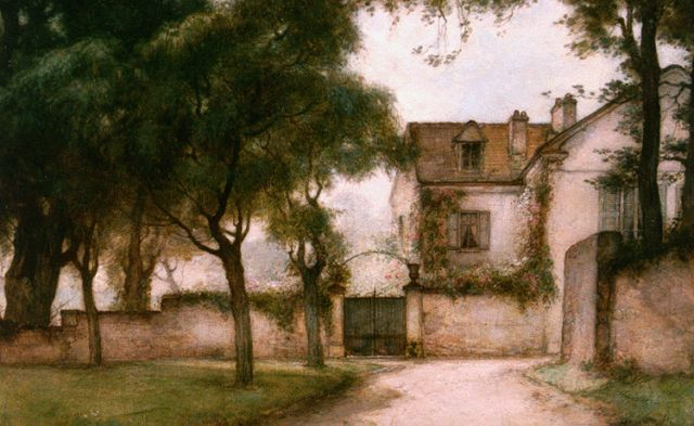 Jan Bogaerts | A country estate, Croissy-sur-Seine, oil on canvas, 40.6 x 60.4 cm, signed l.l. and dated 1927