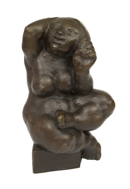 Rudolf Schwaiger | Naiad, bronze, 22.0 x 15.0 cm, signed signed with monogram and in full on the base and made in 1974