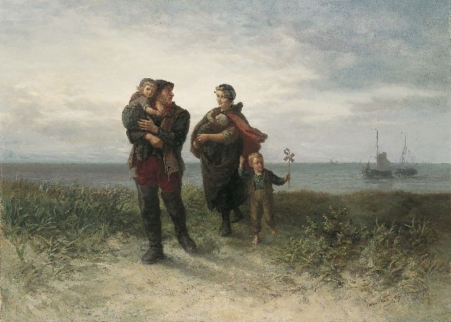 Elchanon Verveer | Homeward bound, oil on canvas, 90.9 x 126.4 cm, signed l.r. and dated '72