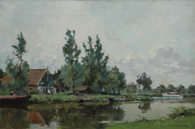 Cornelis Vreedenburgh | View of the Hoef along the Kromme Mijdrecht, oil on canvas, 40.3 x 60.4 cm, signed l.r. and dated 1936