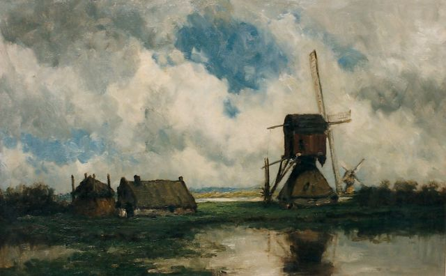 Roelofs W.  | A polder landscape with windmills, oil on canvas, 46.0 x 73.0 cm