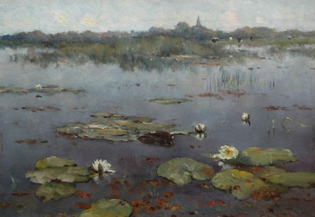 Gerard Altmann | Waterlilies, oil on panel, 21.6 x 31.2 cm, signed l.r.