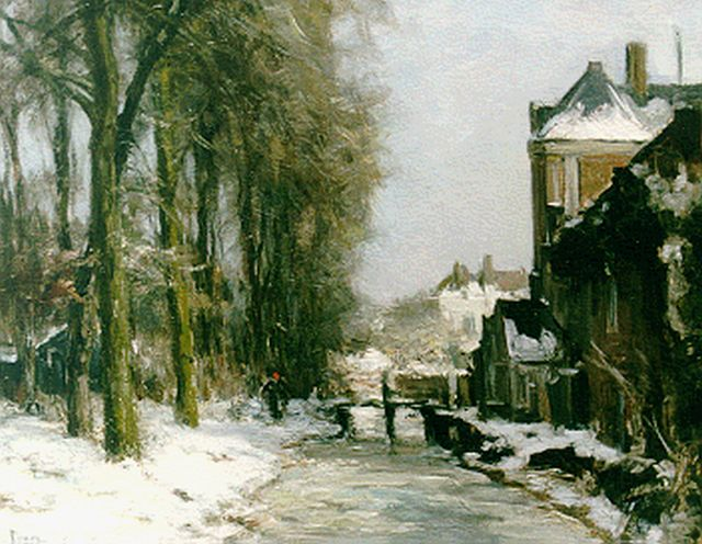 Louis Apol | A winter landscape, oil on canvas, 39.5 x 50.0 cm, signed l.l.