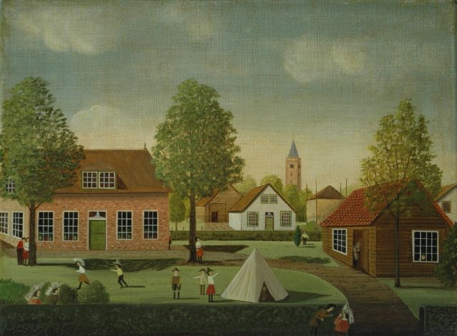 Jaap ter Haar | Children playing, Blaricum, oil on canvas, 30.6 x 40.6 cm, signed l.l.