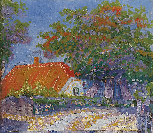 Joan Collette | A farm in summer, oil on painter's board, 28.0 x 31.9 cm, signed l.r. and dated 1912