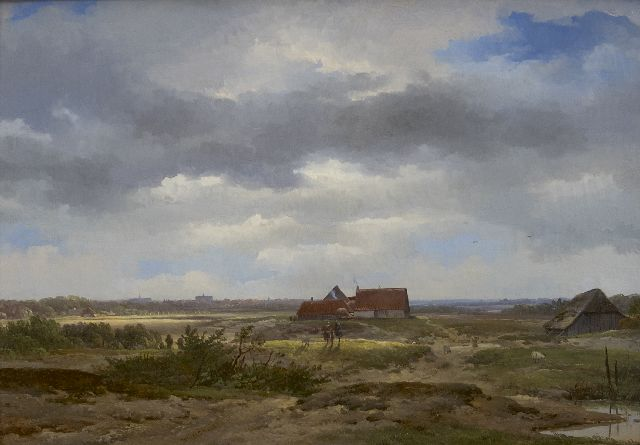 Wijngaerdt A.J. van | A summer landscape, oil on panel 24.7 x 35.2 cm, signed l.c. and dated 1850