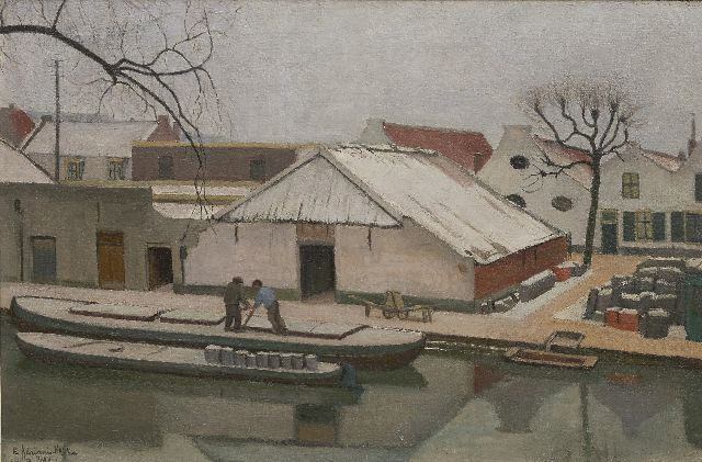 Elisabeth Adriani-Hovy | Canal near Utrecht in winter, oil on canvas, 50.8 x 77.7 cm, signed l.l. and dated 1929