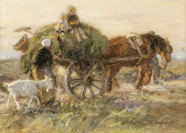 Jan Zoetelief Tromp | Homeward bound, oil on panel, 18.8 x 26.6 cm, signed l.r. and painted between 1903-1904