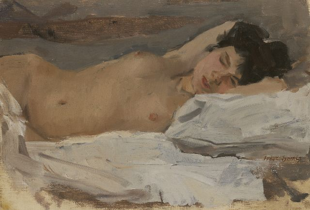 Israels I.L.  | Sleaping nude, oil on canvas, 38.1 x 55.1 cm, signed l.r. and painted between 1915-1920