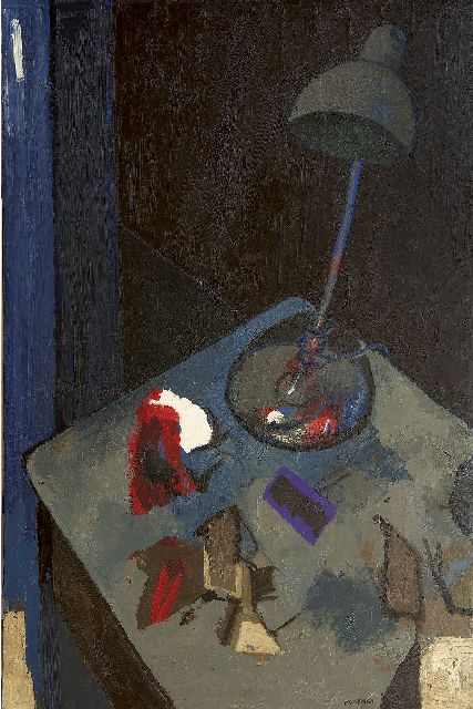 Mooyman Th.J.  | Table at night I, oil on canvas 180.0 x 120.0 cm, signed l.r. and dated '83