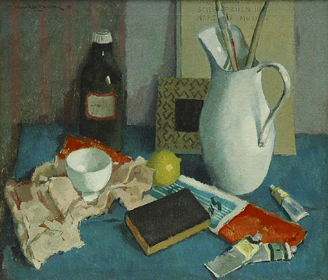 Hessel de Boer | Still life with a white jug, oil on canvas, 60.4 x 70.3 cm, signed u.l. and dated '51