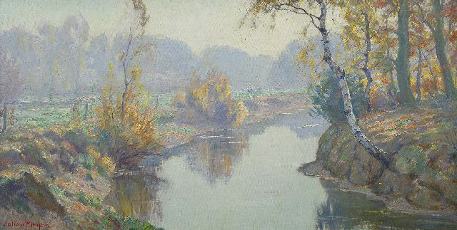 Johan Meijer | Autumn morning, oil on canvas, 44.0 x 84.1 cm, signed l.l.