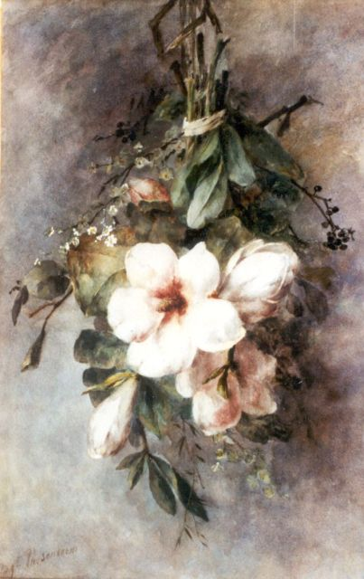 Margaretha Roosenboom | Magnolias, watercolour on paper, 65.0 x 41.9 cm, signed l.l.