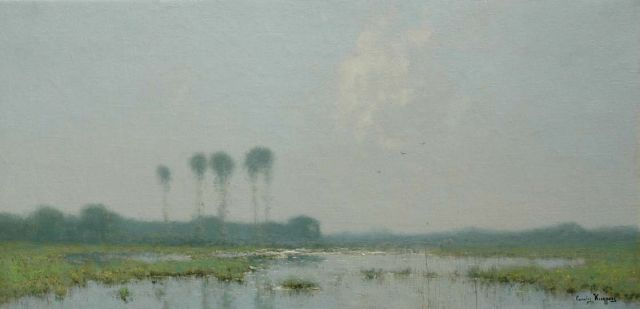 Cornelis Kuijpers | Forelands, oil on canvas, 41.5 x 84.5 cm, signed l.r.