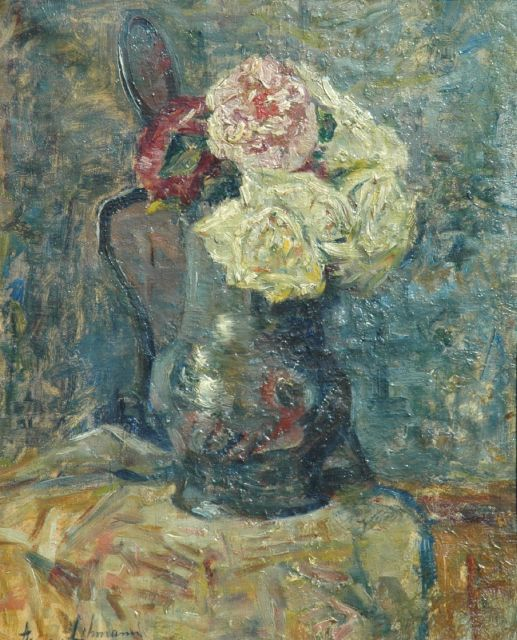 Anna Lehmann | A still life with roses, oil on canvas, 39.5 x 32.7 cm, signed l.l.