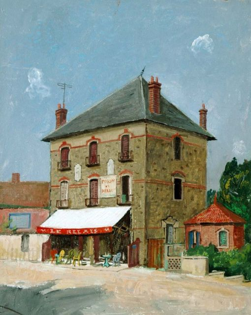 Harm Kamerlingh Onnes | A pub in France, oil on board, 50.5 x 40.3 cm