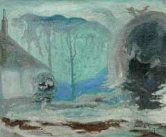 Jong G. de - A winter landscape, oil on canvas 41.2 x 50 cm, signed l.r. and painted circa 1918