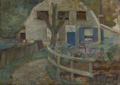 Mondriaan P.C. - A small farmhouse, oil on canvas 32.7 x 46.2 cm, signed l.l. and ca. 1905-1907