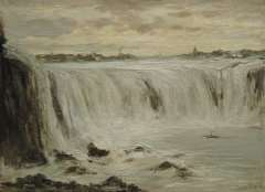 Apol L.F.H. - The Niagara falls, oil on canvas 30.3 x 40.5 cm, signed l.r.