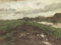 Weissenbruch H.J. - After the rain, oil on canvas laid down on panel 32.9 x 44.1 cm, signed l.r.